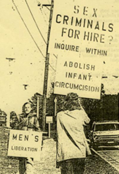 Van and Benjamin Lewis protest circumcision in Tallahassee, FL, 1970. Sex criminals for hire - inquire within