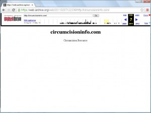 Snapshot of circumcisioninfo.com on Feb. 2011