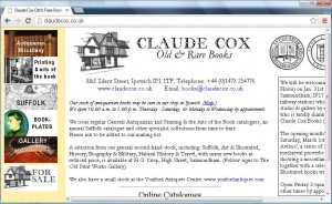 Claude Cox Books