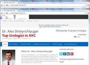 Dr. Alex Shteynshlyuger's website